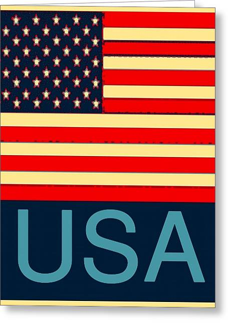 Computer Art And Digital Art Greeting Cards - Usa  Greeting Card by Barbara Snyder