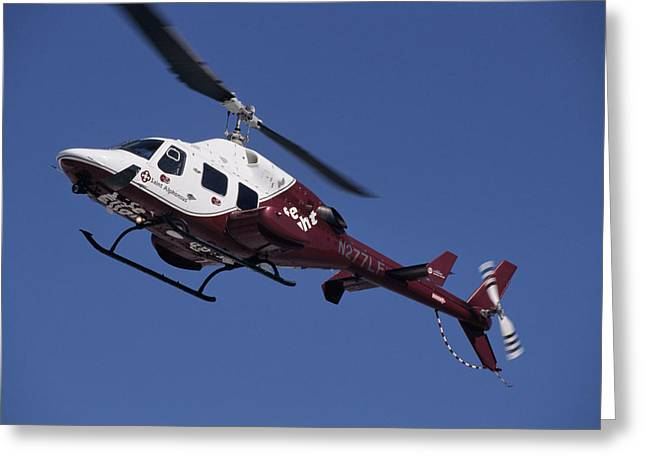 Usa, Boise, Life Flight Helicopter Greeting Card by Gerry Reynolds