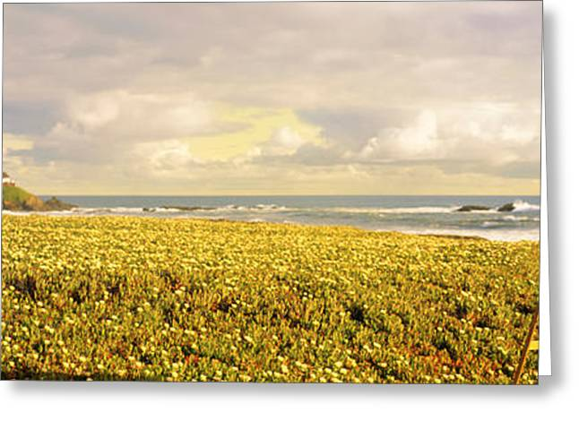 Overcast Day Greeting Cards - Usa, California, Businessman Standing Greeting Card by Panoramic Images