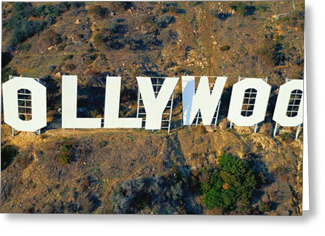 Script Greeting Cards - Usa, California, Los Angeles, Aerial Greeting Card by Panoramic Images