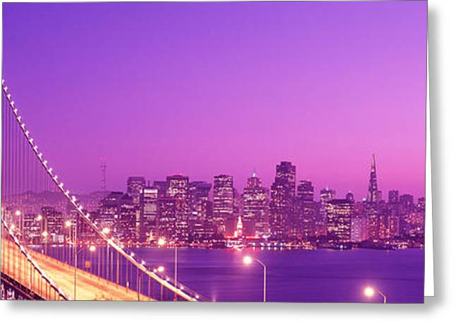 Usa, California, San Francisco, Bay Greeting Card by Panoramic Images