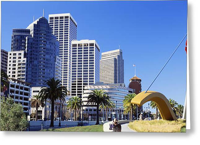Three People Photographs Greeting Cards - Usa, California, San Francisco, Claes Greeting Card by Panoramic Images