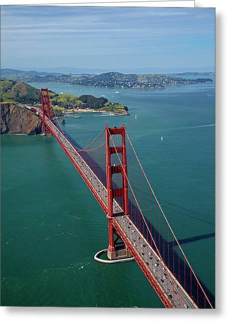 Usa, California, San Francisco, Golden Greeting Card by David Wall