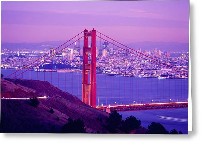 Usa, California, San Francisco, High Greeting Card by Panoramic Images