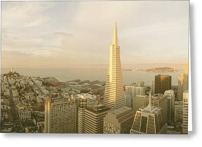 Pyramids Greeting Cards - Usa, California, San Francisco, Skyline Greeting Card by Panoramic Images