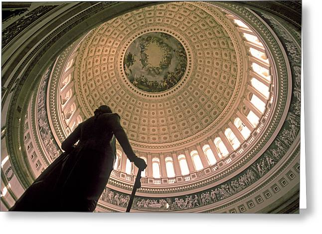 Recently Sold -  - Randy Greeting Cards - USA Capitol Rotunda in Washington DC Greeting Card by Randy Duchaine