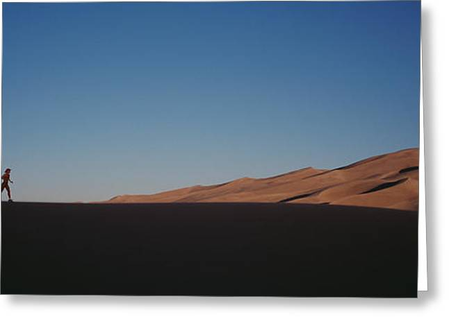 Great Sand Dunes National Park Greeting Cards - Usa, Colorado, Great Sand Dunes Greeting Card by Panoramic Images