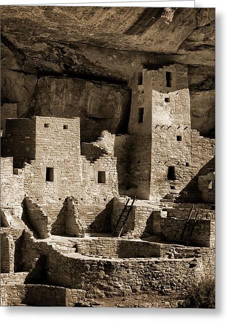 Usa, Colorado, Mesa Verde National Park Greeting Card by Ann Collins