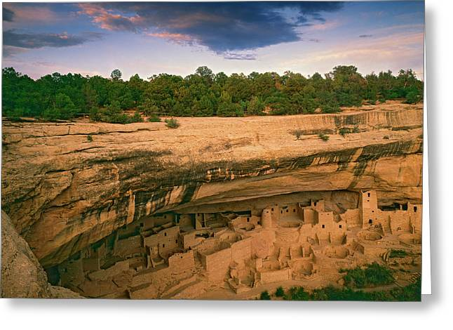 Usa, Colorado, Mesa Verde National Park Greeting Card by Jaynes Gallery
