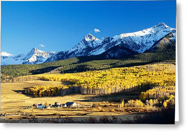 Snow-covered Landscape Photographs Greeting Cards - Usa, Colorado, Ridgeway, Last Dollar Greeting Card by Panoramic Images