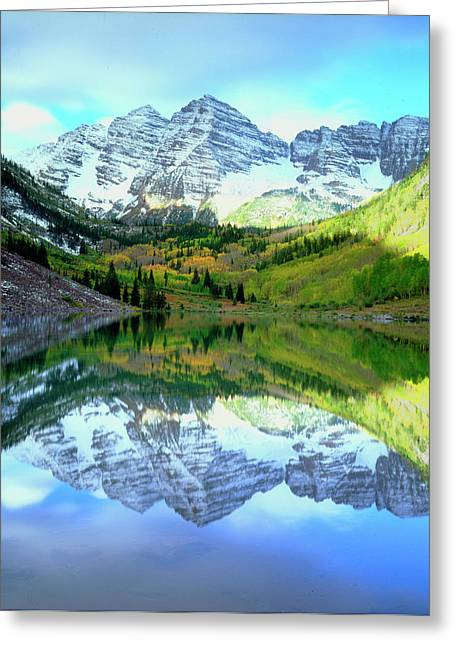 Usa, Colorado Rocky Mountains, Maroon Greeting Card by Jaynes Gallery