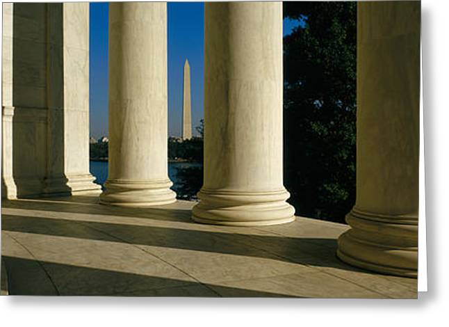 Jefferson Memorial Greeting Cards - Usa, District Of Columbia, Jefferson Greeting Card by Panoramic Images