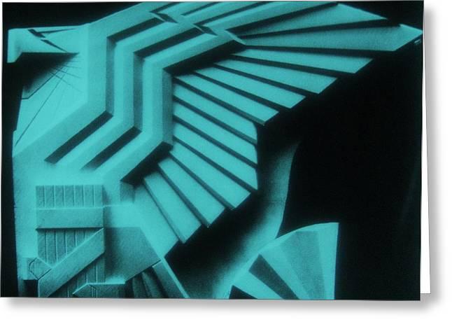 Origional Greeting Cards - USA EAGLE Sculpture -  Art Deco Greeting Card by Gunter  Hortz