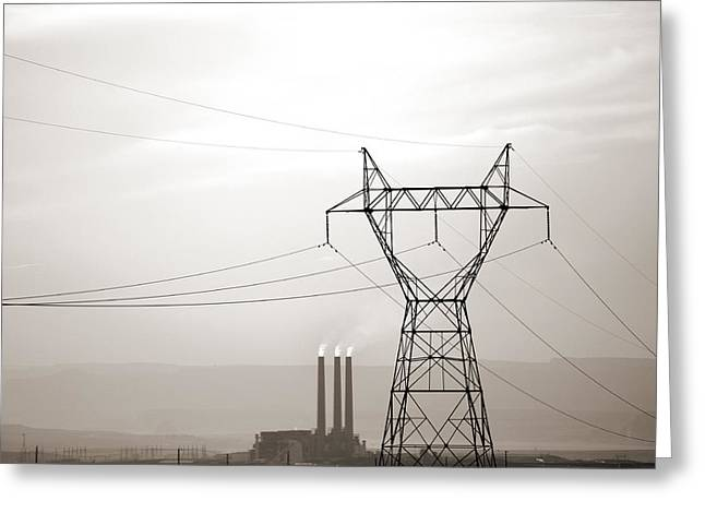Co2 Greeting Cards - USA Energy Greeting Card by Marilyn Hunt