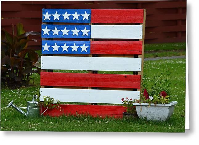 Usa Flag Greeting Cards - USA Flag Greeting Card by Kim Stafford