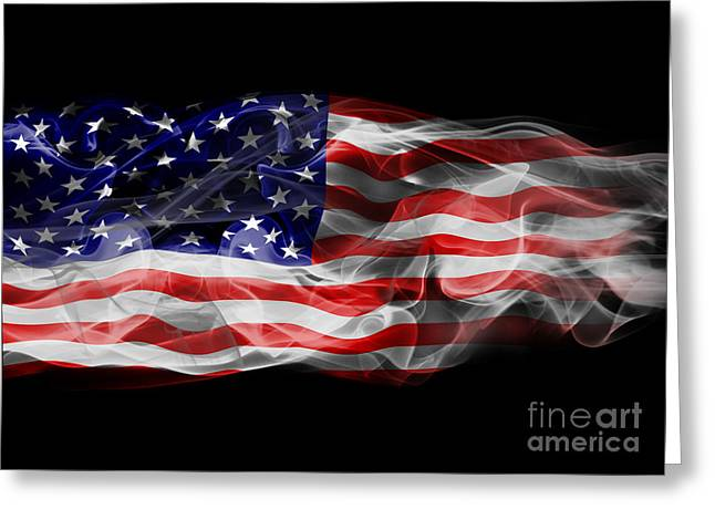 4th July Greeting Cards - USA Flag Smoke  Greeting Card by Jt PhotoDesign