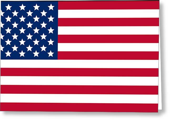 USA flag Greeting Card by Tilen Hrovatic
