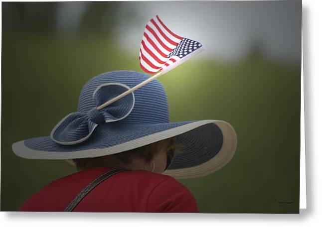 Photography By Tom Woolworth Greeting Cards - USA Flags 04 Greeting Card by Thomas Woolworth