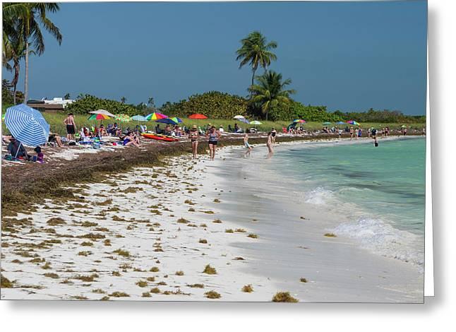 Usa, Florida, Big Pine Key, Bahia Honda Greeting Card by Charles Crust