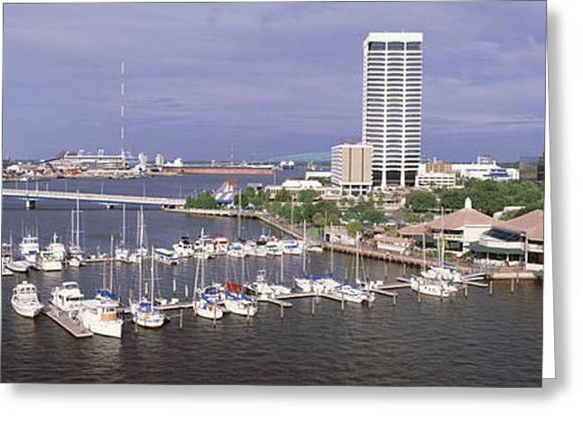 Sailboat Images Greeting Cards - Usa, Florida, Jacksonville, St. Johns Greeting Card by Panoramic Images