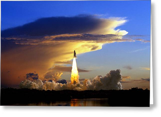 Enterprise Greeting Cards - Usa, Florida, Kennedy Space Center Greeting Card by Tips Images