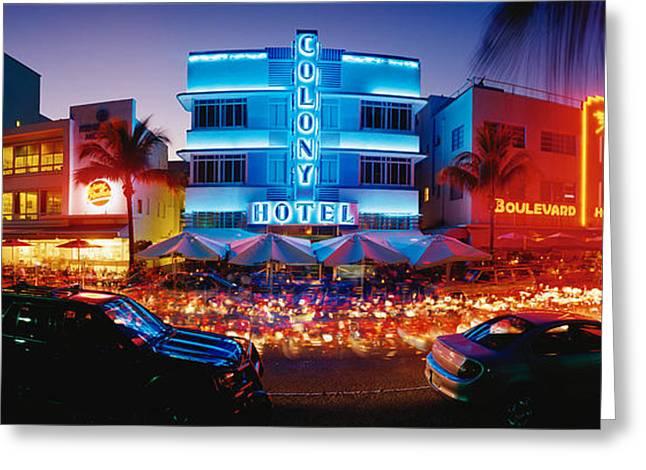 Usa, Florida, Miami Beach Greeting Card by Panoramic Images