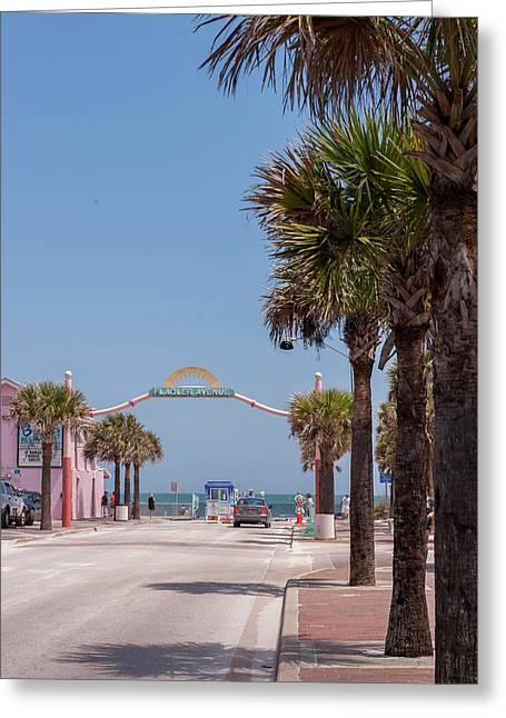 Usa, Florida, New Smyrna Beach, Flagler Greeting Card by Lisa S. Engelbrecht