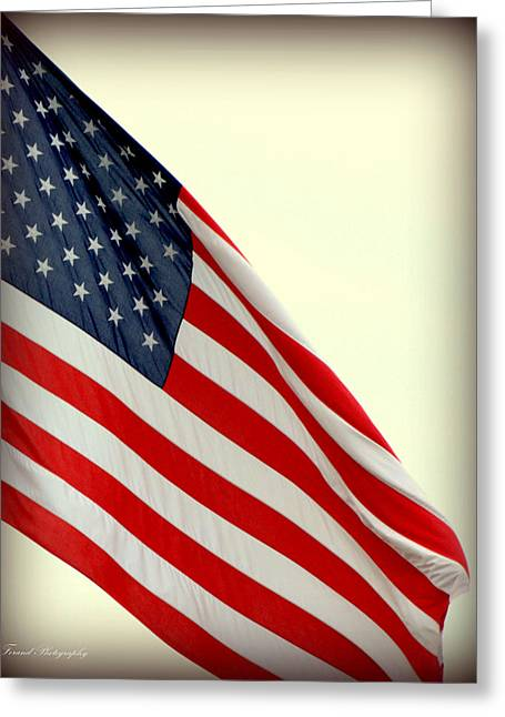 Usa Fly It Proud Greeting Card by Debra Forand