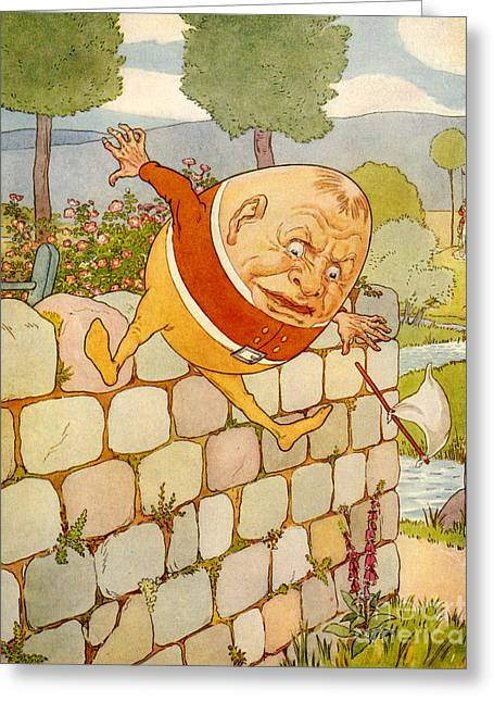Humpty Dumpty Greeting Cards - Usa Humpty Dumpty Book Plate Greeting Card by The Advertising Archives