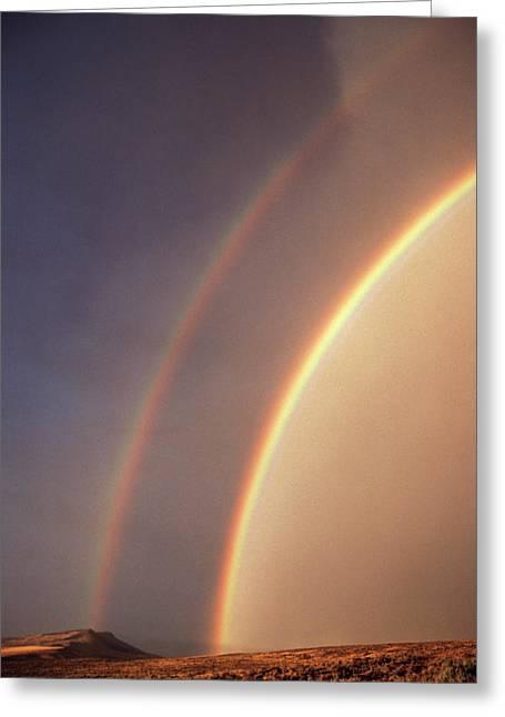 Usa, Idaho, Double Rainbow Greeting Card by Scott T. Smith