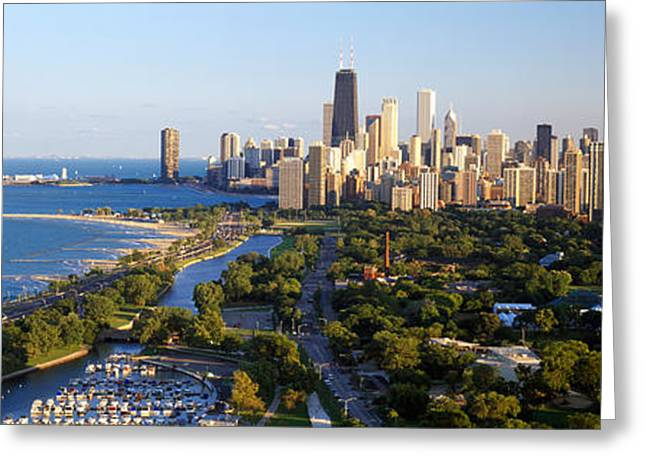 Highrises Greeting Cards - Usa, Illinois, Chicago Greeting Card by Panoramic Images