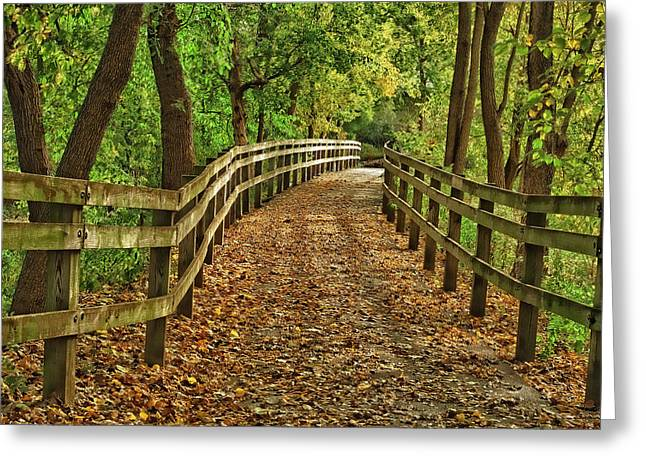 Usa, Indiana City Hiking Trail Greeting Card by Rona Schwarz