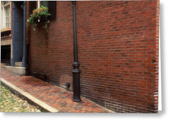 Boston Ma Photographs Greeting Cards - Usa, Massachusetts, Boston, Beacon Hill Greeting Card by Panoramic Images