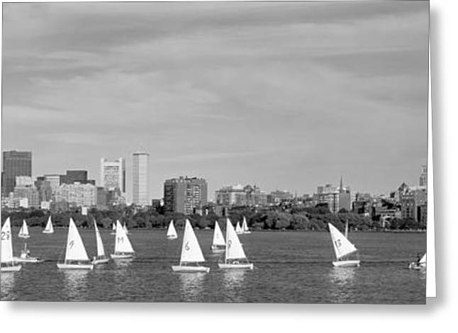 White River Scene Greeting Cards - Usa, Massachusetts, Boston, Charles Greeting Card by Panoramic Images