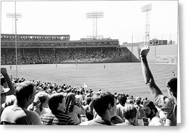 People Greeting Cards - Usa, Massachusetts, Boston, Fenway Park Greeting Card by Panoramic Images