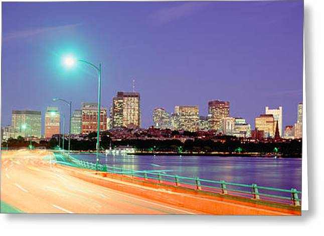 Usa, Massachusetts, Boston, Highway Greeting Card by Panoramic Images