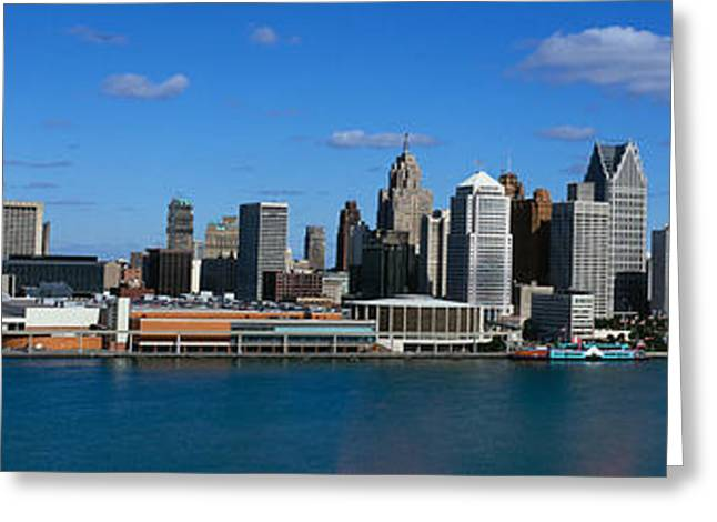 Usa, Michigan, Detroit Greeting Card by Panoramic Images