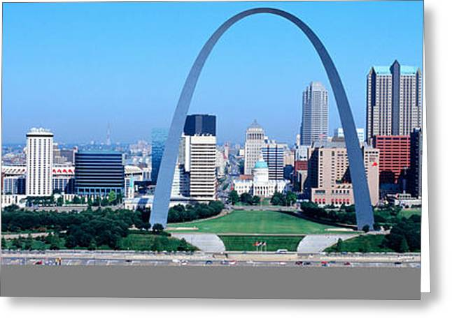 Gateway Arch Greeting Cards - Usa, Missouri, St. Louis, Gateway Arch Greeting Card by Panoramic Images