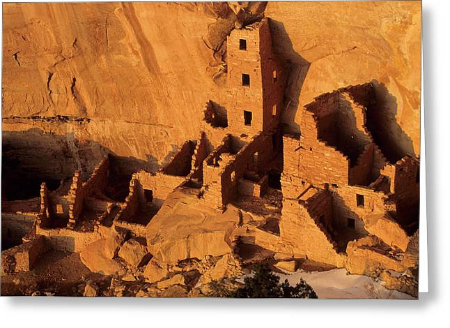 Usa, Native American Cliff Dwellings Greeting Card by Gerry Reynolds