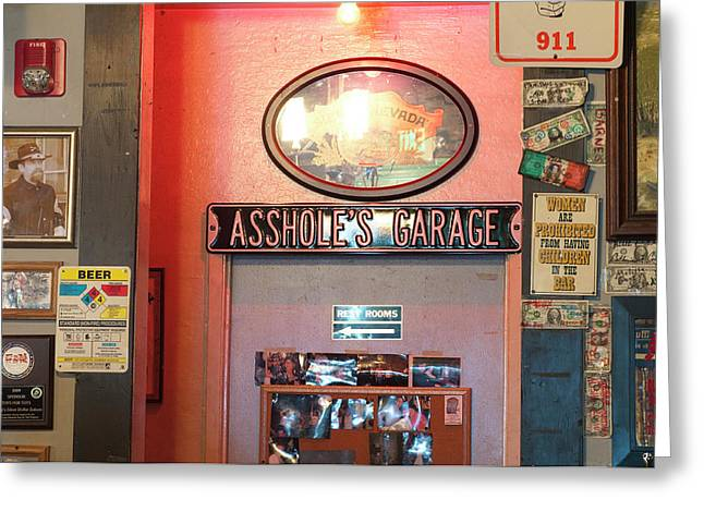 Usa, Nevada Silver Dollar Saloon Greeting Card by Michael Defreitas