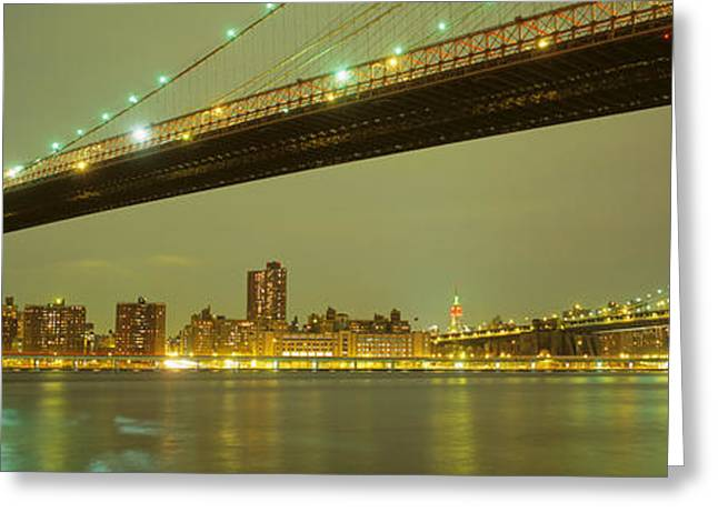 Wall Street Greeting Cards - Usa, New York, Brooklyn And Manhattan Greeting Card by Panoramic Images