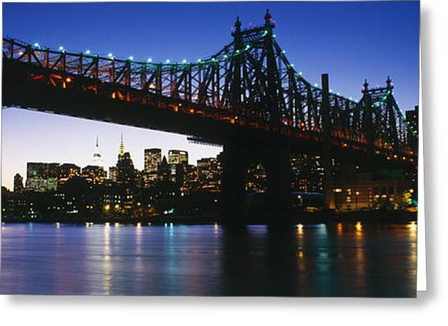 Brightly Greeting Cards - Usa, New York City, 59th Street Bridge Greeting Card by Panoramic Images