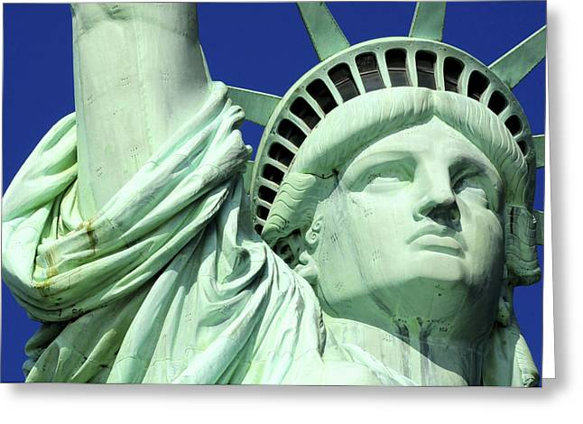 Usa, New York City, Statue Of Liberty � Greeting Card by Tips Images