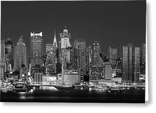 Building Exterior Photographs Greeting Cards - Usa, New York, New York City, Panoramic Greeting Card by Panoramic Images