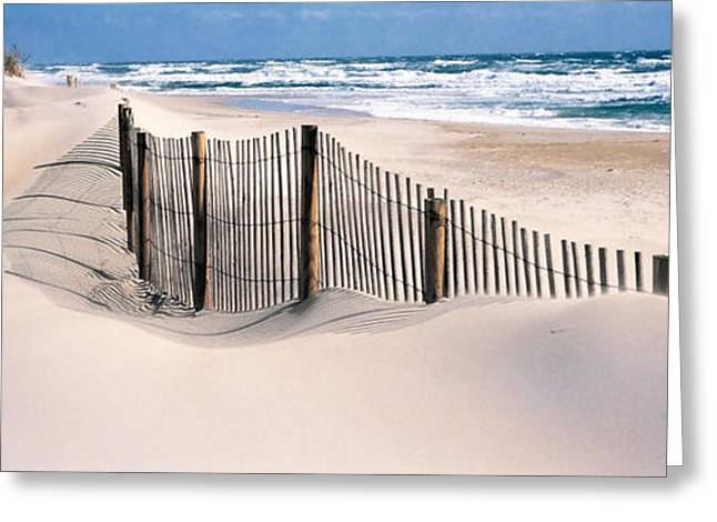 Panoramic Ocean Greeting Cards - Usa, North Carolina, Outer Banks Greeting Card by Panoramic Images