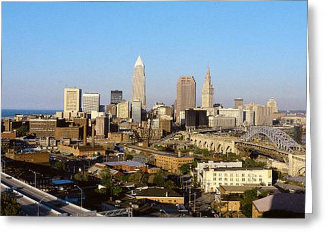 Ohs Greeting Cards - Usa, Ohio, Cleveland, Aerial Greeting Card by Panoramic Images