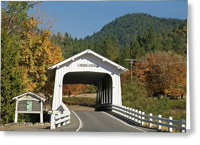 Usa, Oregon, Cottage Grove Greeting Card by Jaynes Gallery