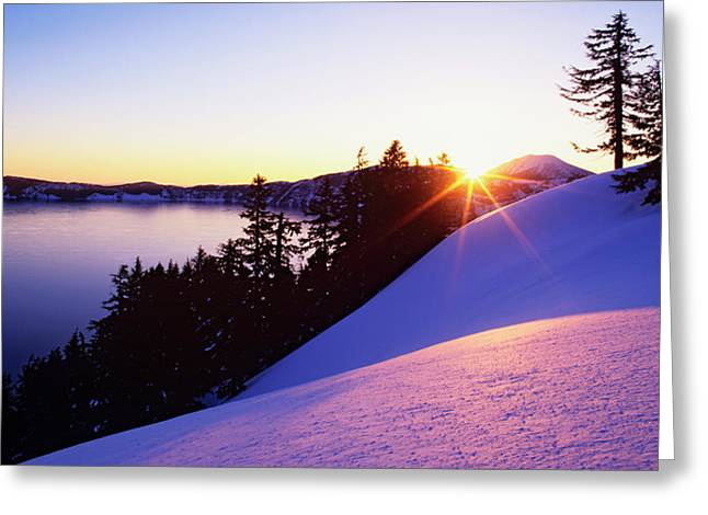 Usa, Oregon, Crater Lake Greeting Card by Jaynes Gallery
