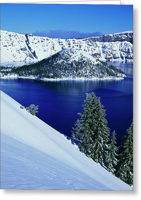 Usa, Oregon, Crater Lake National Park Greeting Card by Jaynes Gallery