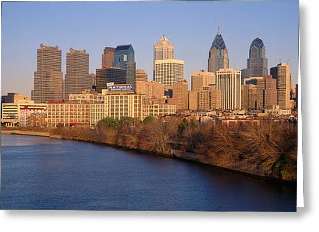 Bare Trees Greeting Cards - Usa, Pennsylvania, Philadelphia Greeting Card by Panoramic Images